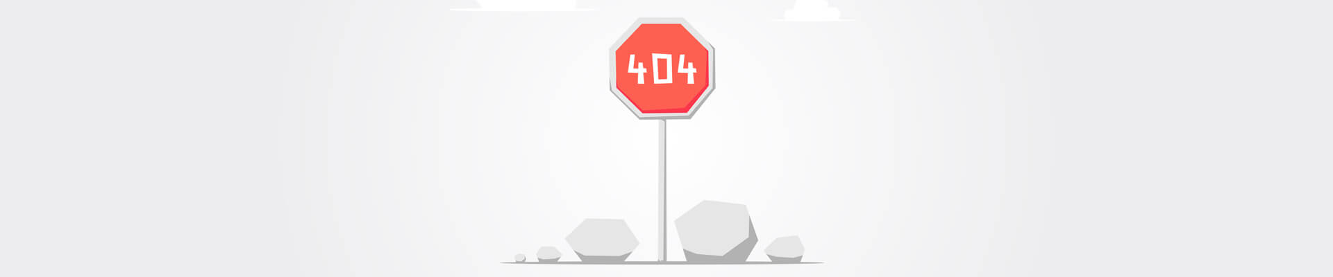 404 on stop sign board